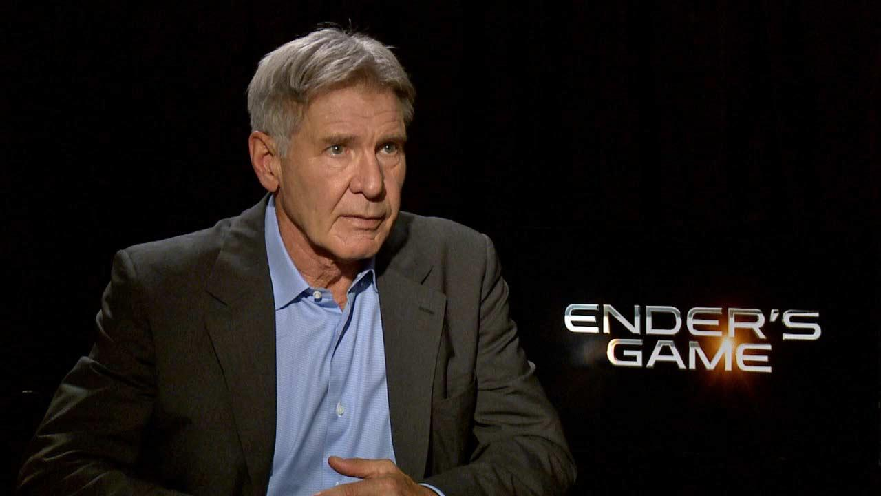 Harrison Ford spoke to OTRC.com about the film Enders Game, in theaters Nov. 1, 2013.