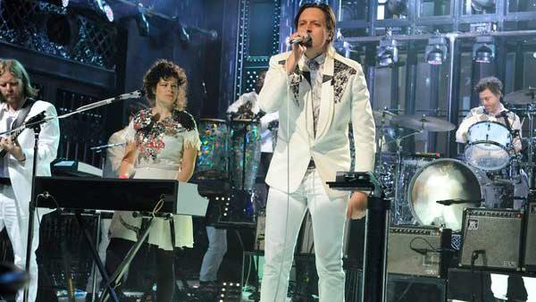 Arcade Fire appears on Saturday Night Live on Sept. 28, 2013. - Provided courtesy of Dana Edelson/NBC
