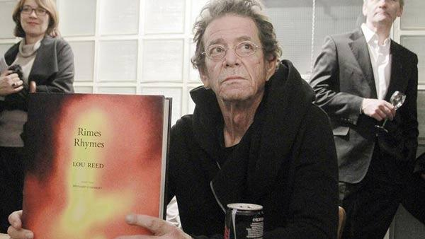 Lou Reed appears at the opening of his exhibition 'Visual Thoughts' in Frankfurt on Nov. 3, 2012.