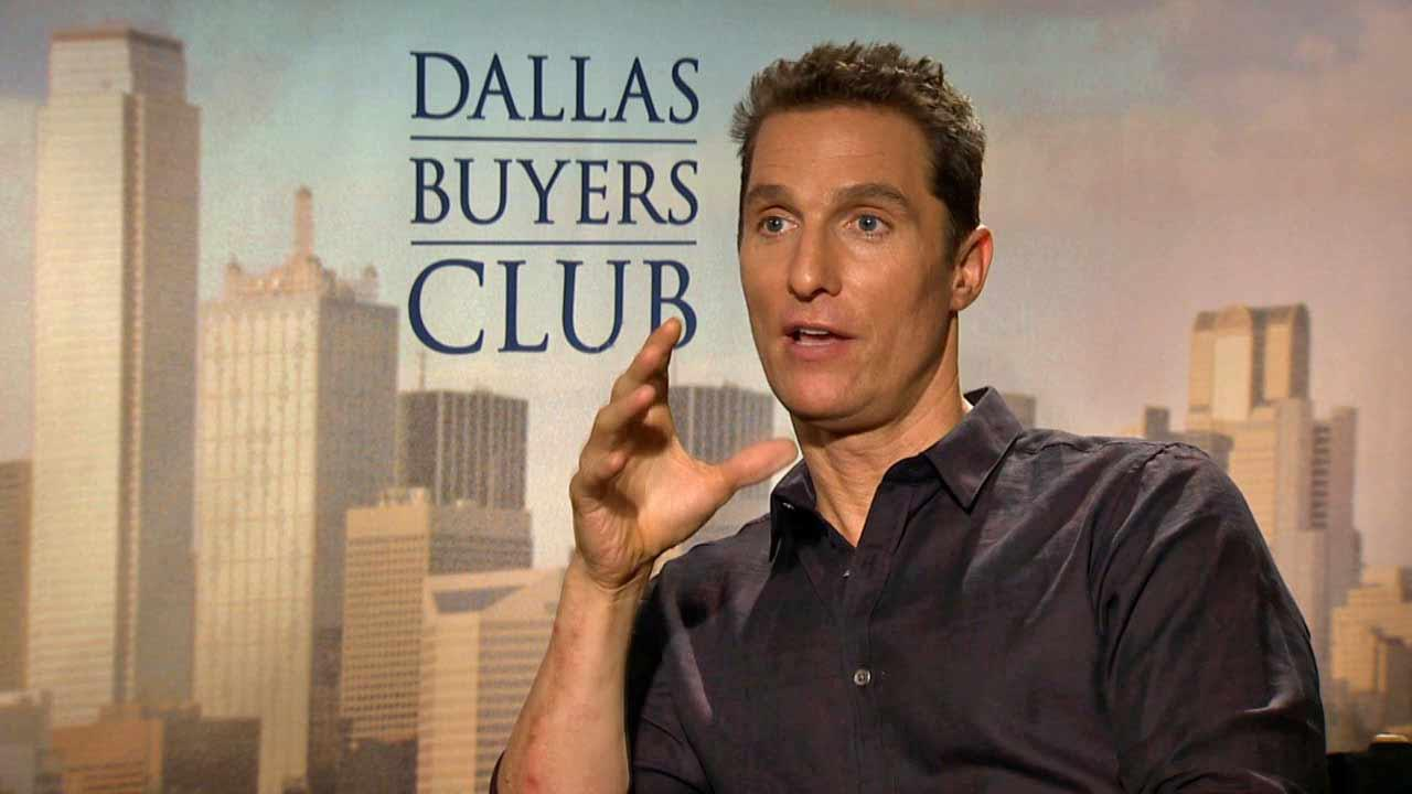 Matthew McConaughey spoke to OTRC.com about the film Dallas Buyers Club (October 2013).