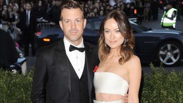 Olivia Wilde and Jason Sudeikis appear at the PUNK: Chaos To Couture Costume Institute Gala at the Metropolitan Museum of Art in New York City on May 6, 2013.
