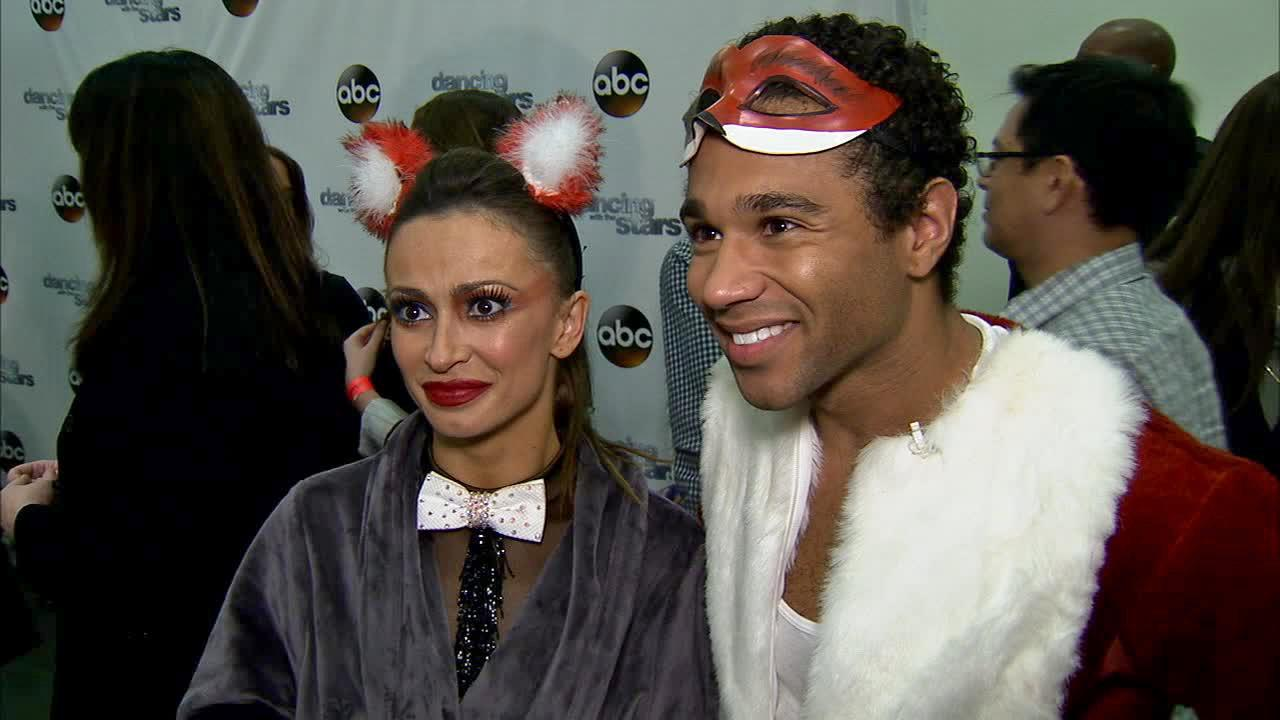 Corbin Bleu and Karina Smirnoff talk to OTRC.com after week 7 on Dancing With The Stars on Oct. 28, 2013.
