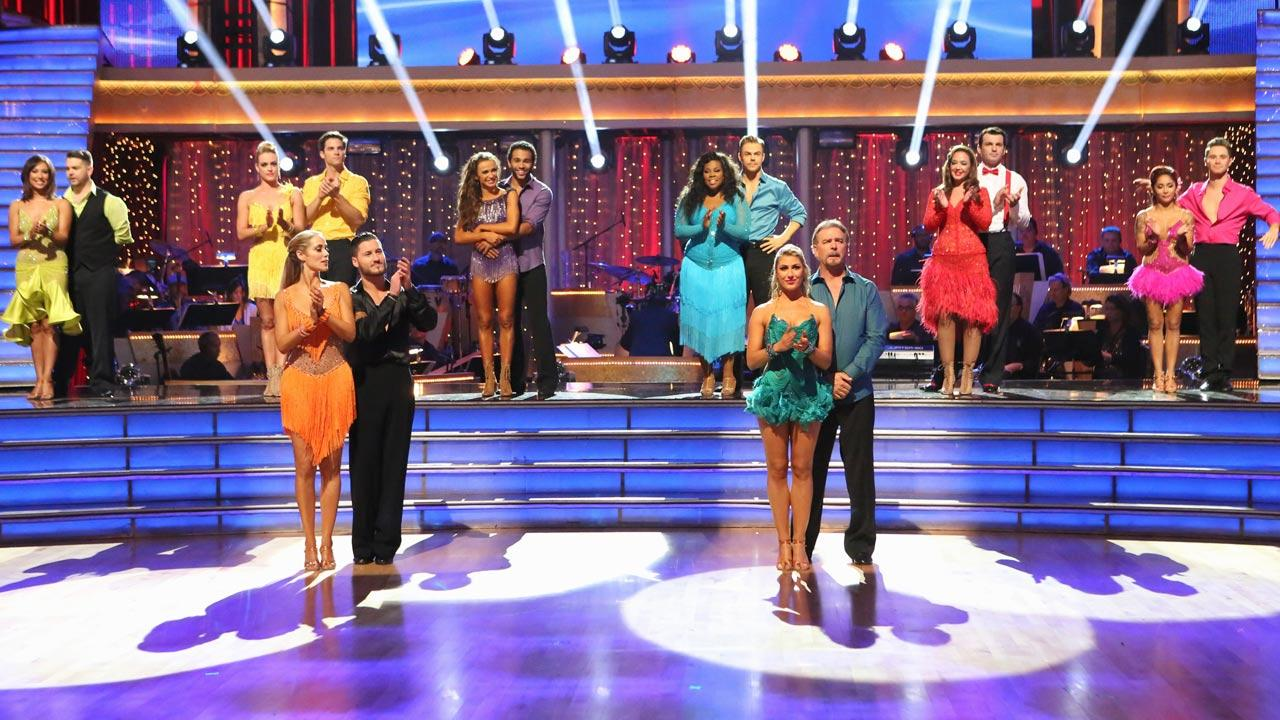 The cast of season 17 of Dancing With The Stars appears on Oct. 21, 2013.