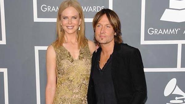 Nicole Kidman and Keith Urban appear at the 55th annual GRAMMY Awards in Los Angeles, California on Feb. 10, 2013. - Provided courtesy of Kyle Rover / startraksphoto.com