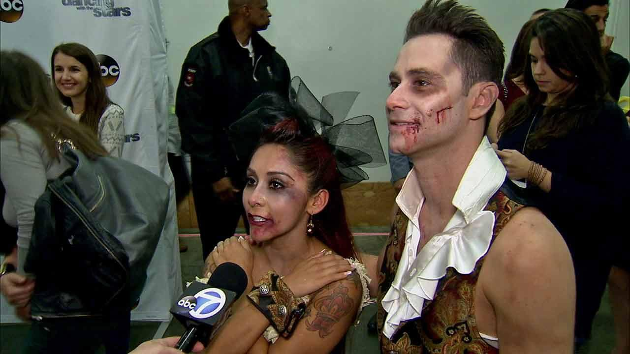 Nicole Snooki Polizzi and partner Sasha Farber spoke to OTRC.com after week 7 of Dancing With The Stars.