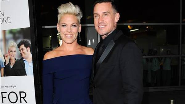 Pink and Carey Hart appear at the premiere of Thank You For Sharing in Los Angeles, California on Sept. 16, 2013. - Provided courtesy of Sara De Boer / startraksphoto.com