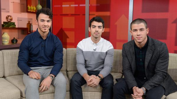 The Jonas Brothers appear on ABCs Good Morning America (GMA) to discuss the groups breakup on Oct. 30, 2013. - Provided courtesy of ABC / Ida Mae Astute