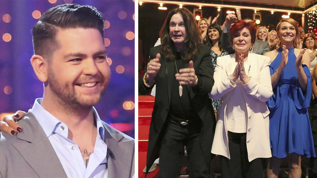 Dancing With The Stars Jack Osbourne appears on season 17, week 5 of the ABC show on Oct. 14, 2013. / His parents, rocker Ozzy Osbourne and Sharon Osbourne, and wife Lisa Stelly attend a live taping of the season 17 debut on Sept. 16, 2013.ABC Photo / Adam Taylor