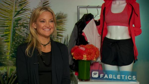 Actress Kate Hudson shares the inspiration behind her activewear line Fabletics.