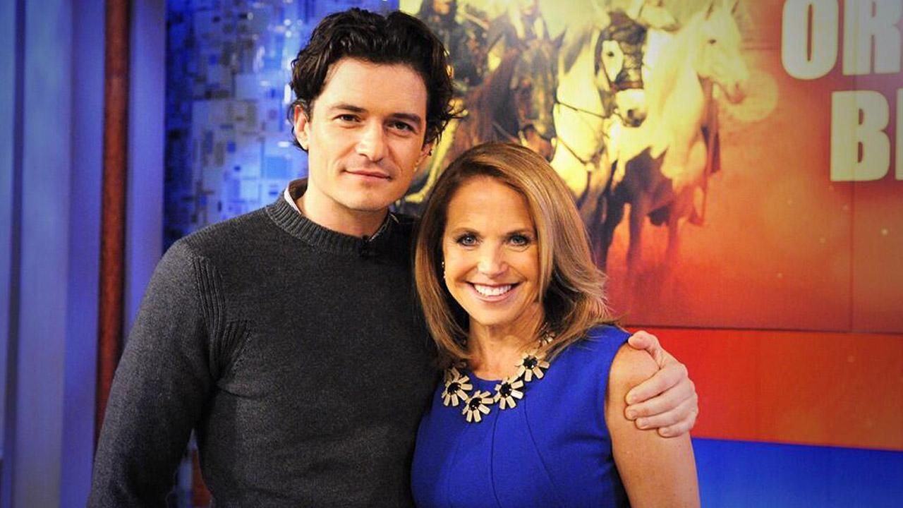 Orlando Bloom appears with Katie Couric for his interview on Katie set to air on Nov. 1, 2013.
