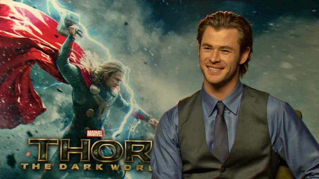 Chris Hemsworth appears in an interview with OTRC.com for Thor: The Dark World, in theaters on Nov. 8, 2013.