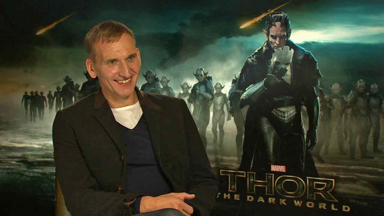 Christopher Ecclleston appears in an interview with OTRC.com for Thor: The Dark World, in theaters on Nov. 8, 2013.