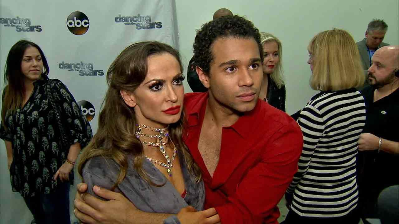 Corbin Bleu and Karina Smirnoff talked to OTRC.com after week 8 on Dancing With The Stars on Nov. 4, 2013.