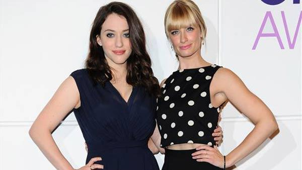 Kat Dennings and Beth Behrs were announced as hosts of the 2014 Peoples Choice Awards in Los Angeles, California on Nov. 5, 2013. - Provided courtesy of Sara De Boer / startraksphoto.com