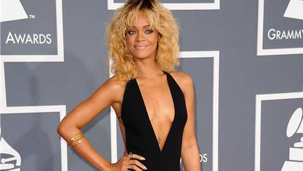 Rihanna appears at the 54th annual GRAMMY Awards in Los Angeles on Feb. 12, 2012. - Provided courtesy of Kyle Rover / startraksphoto.com