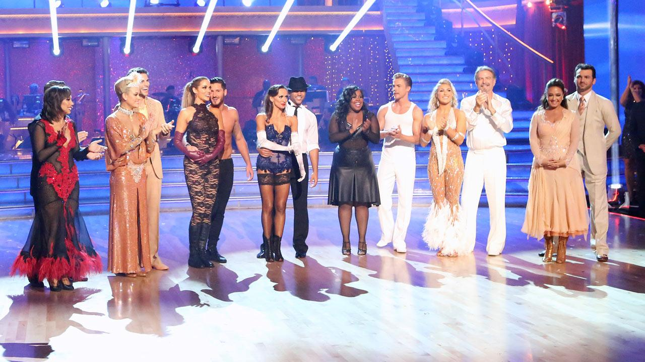 The cast of season 17 of Dancing With The Stars appears on Nov. 4, 2013.