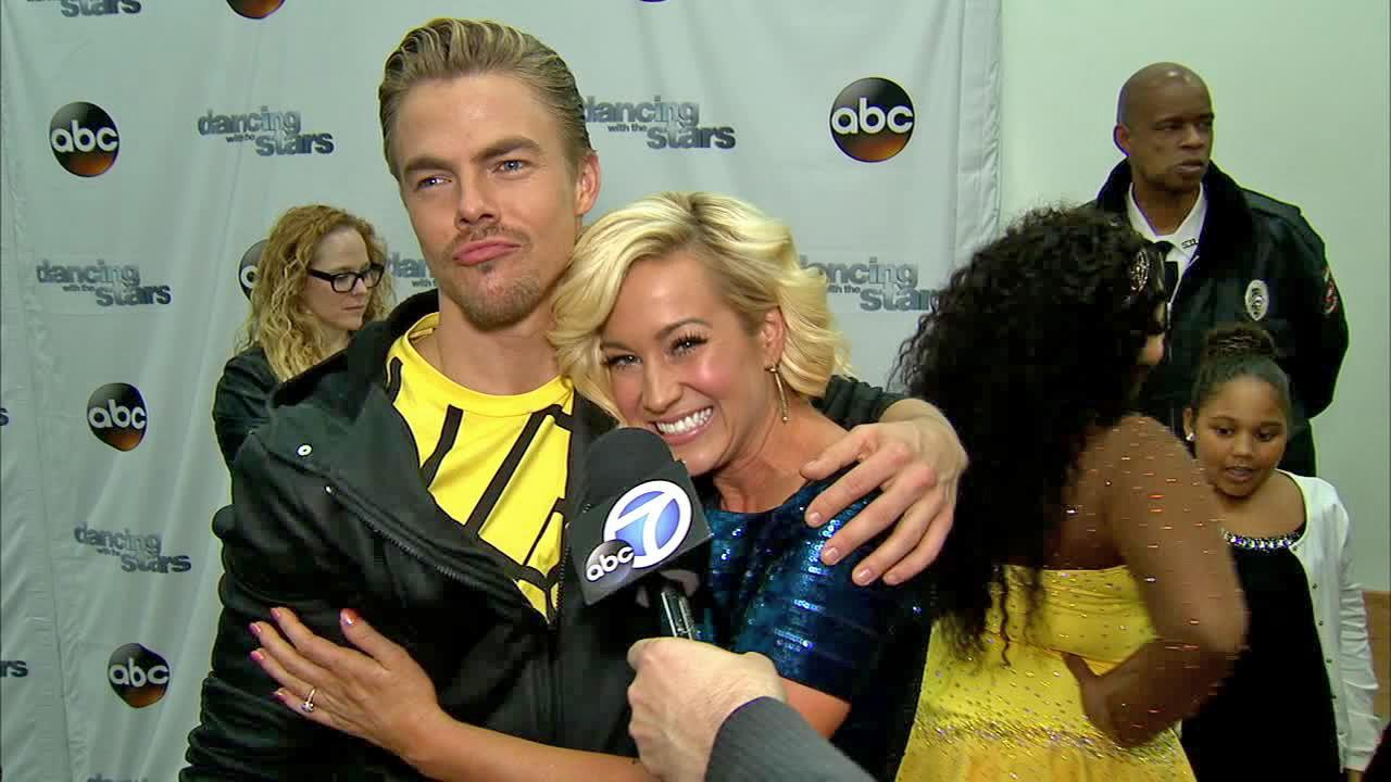 Kelllie Pickler and Derek Hough talked to OTRC.com after week 9 on Dancing With The Stars on Nov. 11, 2013.