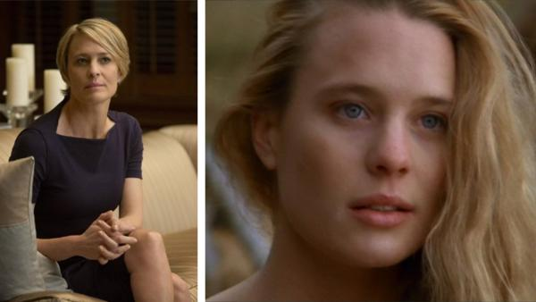 Robin Wright appears in a scene from 'House of Cards.' / Robin Wright appears in a scene from 'The Princess Bride.'