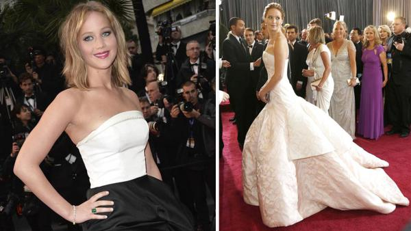 Jennifer Lawrence appears at the 66th Cannes Film Festival on May 18, 2013. / Lawrence appears at the 85th Academy Awards on Feb. 24, 2013. - Provided courtesy of Maria Laura Antonelli/startraksphoto.com / Future Image/startraksphoto.com