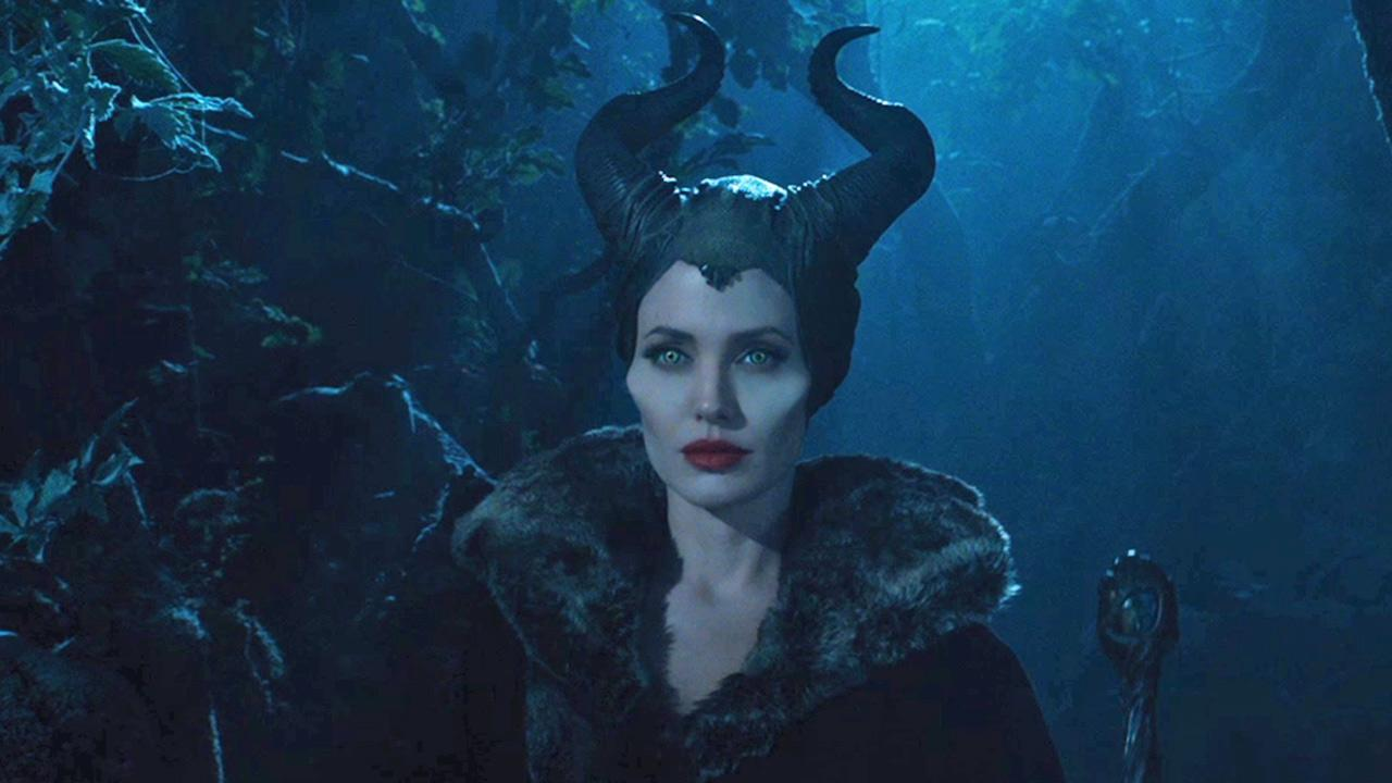 Angelina Jolie appears in a scene from the 2014 Disney film Maleficent.