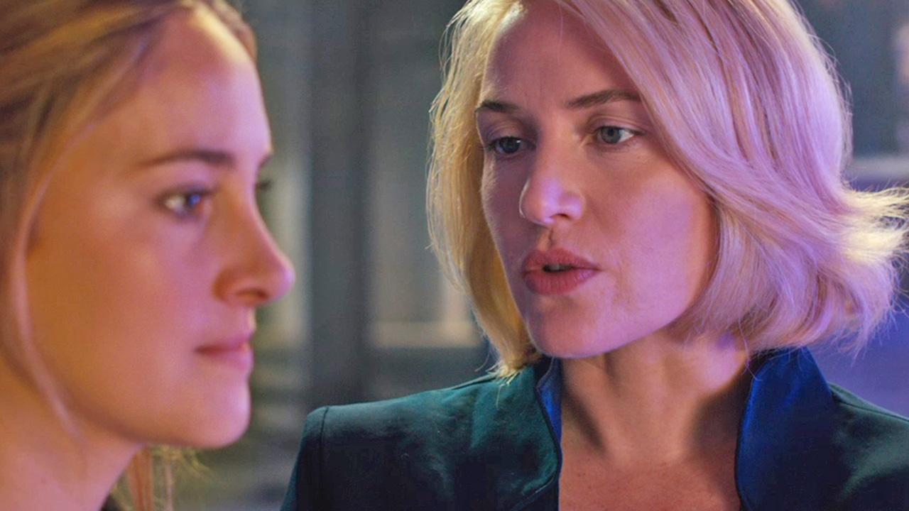 Shailene Woodley and Kate Winslet appear in a scene from the 2014 movie Divergent.