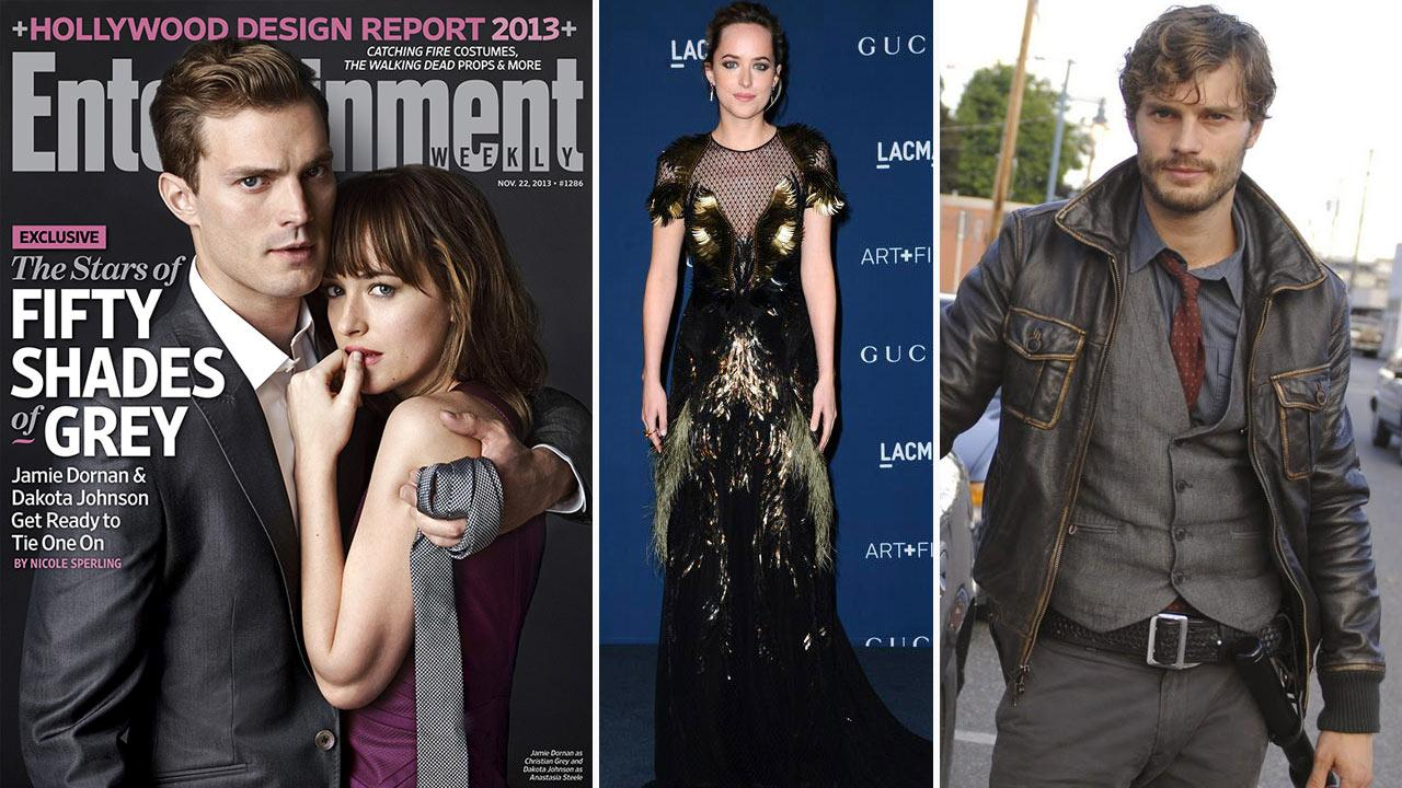 Jamie Dornan and Dakota Johnson appear on the cover of Entertainment Weekely, released on Nov. 13, 2013. / Johnson appears a the LACMA 2013 Art Film Gala on Nov. 2, 2013. / Dornan appears in a promotional photo for Once Upon A Time in 2011.