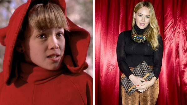 Left -- Hilary Duff appears in a still from 'Casper Meets Wendy.' Right -- Hilary Duff appears at a Halloween party on Oct. 24, 2013.