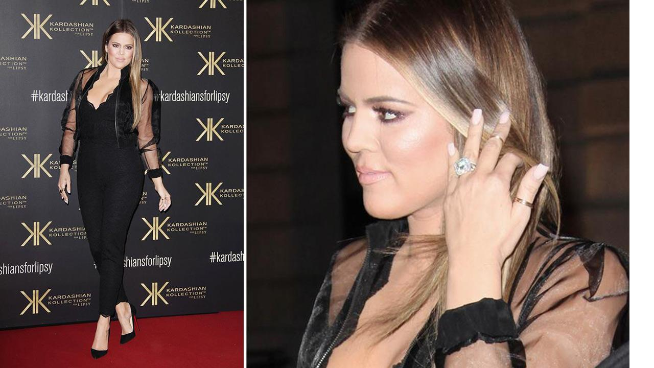 Khloe Kardashian appears at a launch party for the Kardashian Kollection For Lipsy at the National History Museum in London on Nov. 14, 2013.