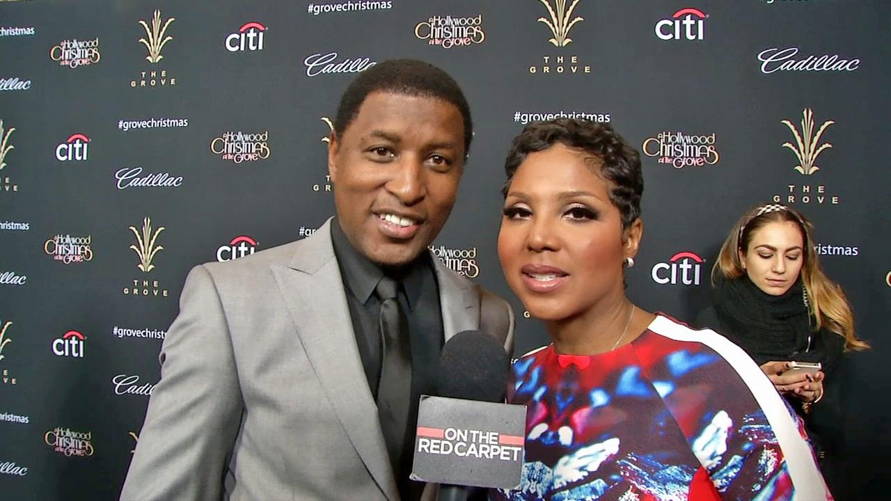 Toni Braxton and Babyface talk to OTRC.com about Christmas 2013 at the 11th annual Christmas Tree Lighting Spectacular event at The Grove shopping mall in Los Angeles on Nov. 17, 2013.