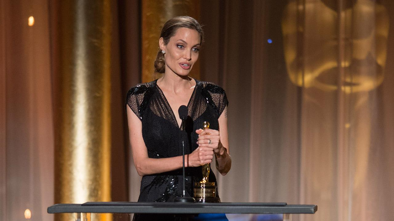 Jean Hersholt Humanitarian Award recipient Angelina Jolie appears at the 2013 Governors Awards at The Ray Dolby Ballroom at Hollywood and Highland Center in Hollywood, California on Saturday, Nov. 16, 2013.
