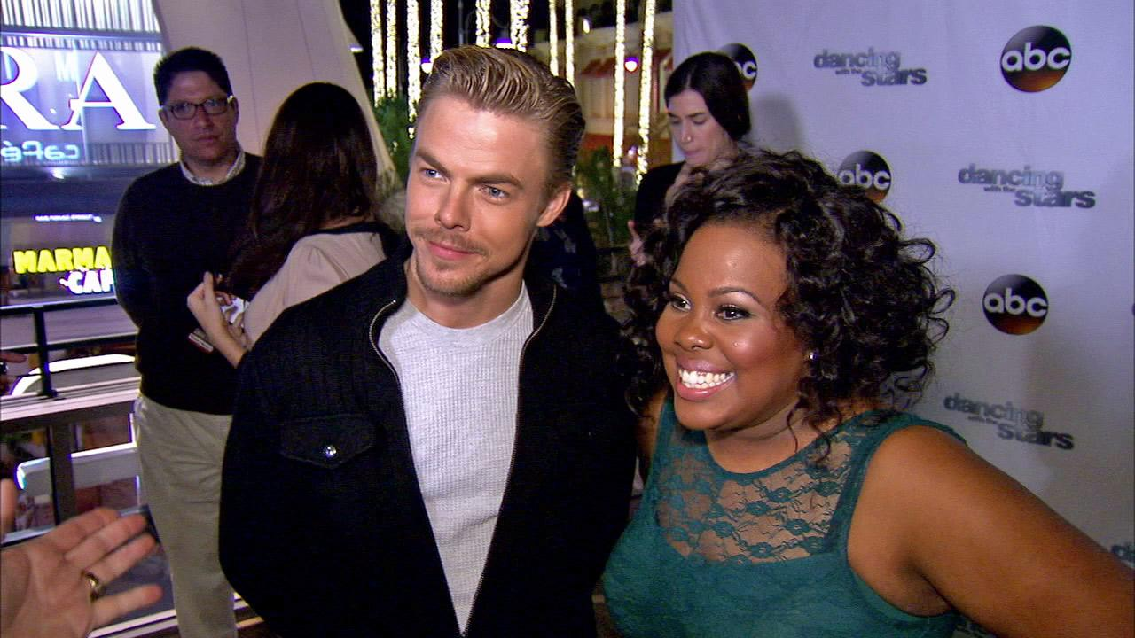 Amber Riley and Derek Hough talked to OTRC.com after week 10 on Dancing With The Stars on Nov. 18, 2013.