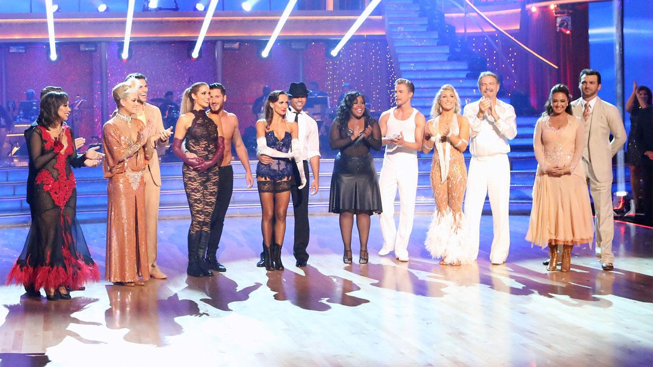 The cast of season 17 of Dancing With The Stars appears on Nov. 11, 2013.