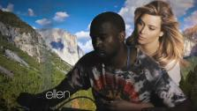 Kanye West and Kim Kardashian appear in the music video for Bound 2, which premiered on The Ellen DeGeneres Show on Nov. 19, 2013. - Provided courtesy of The Ellen DeGeneres Show / Roc-A-Fella / Def Jam Records
