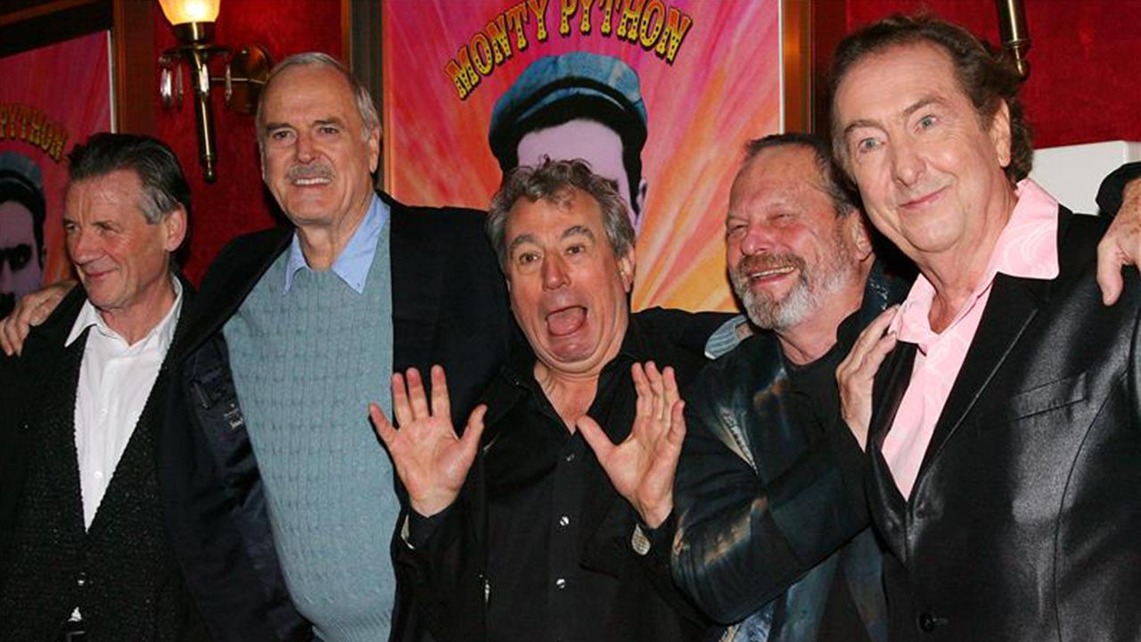 Monty Python stars Michael Palin, John Cleese, Terry Jones, Terry Gilliam and Eric Idle appear at a 40th Monty Python celebration event and screening of the IFC documentary Monty Python: Almost The Truth in New York on Oct. 15, 2009.
