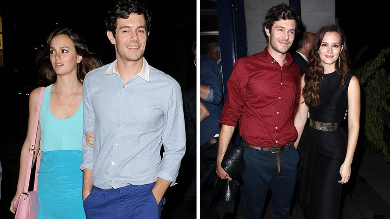 Leighton Meester and Adam Brody leave the Some Girls after party in Studio City, California on June 26, 2013. / Leighton Meester and Adam Brody attend an after party for The Oranges in New York on Sept. 14, 2012.