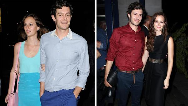 Leighton Meester and Adam Brody leave the Some Girls after party in Studio City, California on June 26, 2013. / Leighton Meester and Adam Brody attend an after party for The Oranges in New York on Sept. 14, 2012. - Provided courtesy of Daniel Robertson / Kristina Bumphrey / Startraksphoto.com