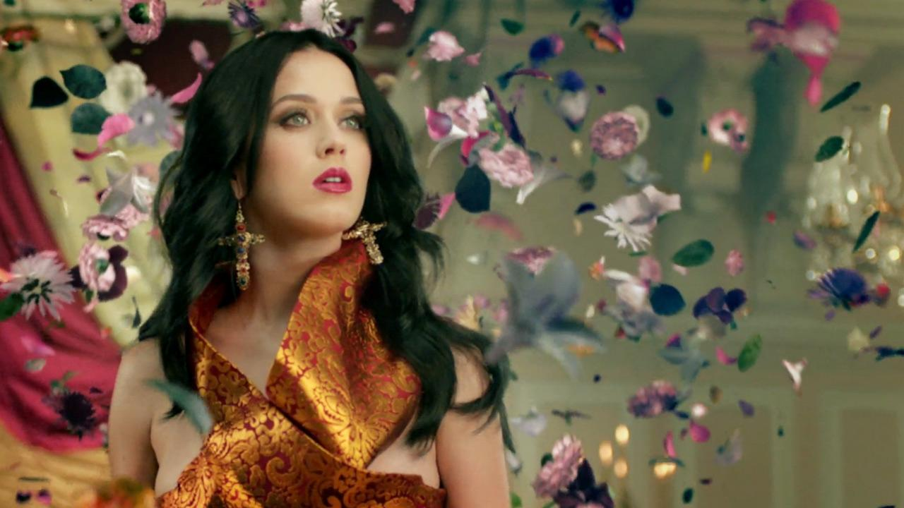 Katy Perry appears in a scene from her music video Unconditionally, which was released on Nov. 19, 2013.