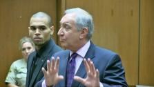 Chris Brown appears at a probation hearing at a Los Angeles court on Nov. 20, 2013. - Provided courtesy of OTRC
