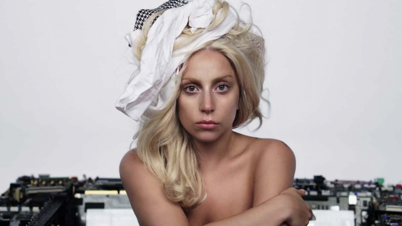 Lady Gaga appears in a still from her ARTPOP music video.