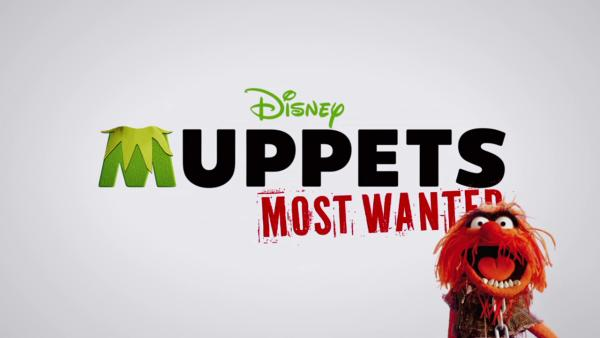Animal is seen in a promotional photo for the 2014 movie Muppets Most Wanted.
