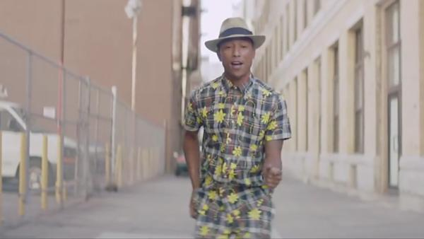 Pharrell Williams appears in the 11 a.m. music video for his song Happy, which was released on Nov. 22, 2013. - Provided courtesy of 24hoursofhappy.com/
