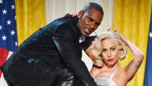Lady Gaga and R. Kelly perform at the American Music Awards 2013 on Nov. 24, 2013. - Provided courtesy of ABC/Matt Brown