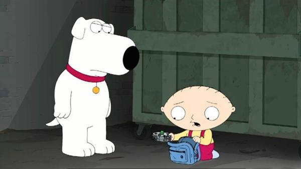 Brian Griffin and Stewie Griffin appear in a scene from the Nov. 24, 2013 episode of FOXs Family Guy, titled Life of Brian. - Provided courtesy of FOX