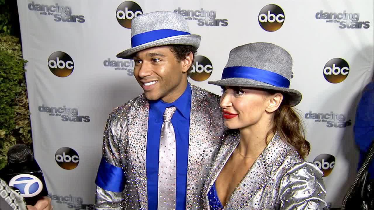 Corbin Bleu and Karina Smirnoff talk to OTRC.com after week 11 -- the first of the two-part finale -- of Dancing With The Stars season 17 on Nov. 25, 2013.