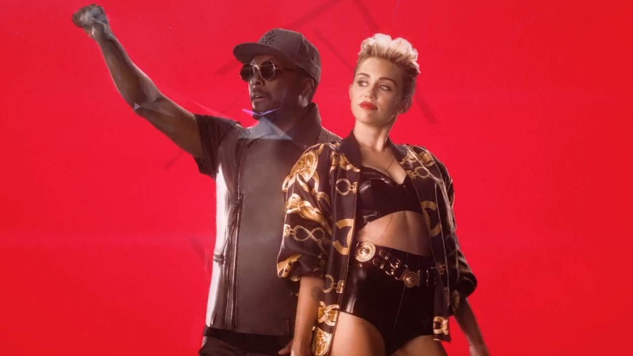 Miley Cyrus and will.i.am appear in the music video for the 2013 song Feelin Myself.