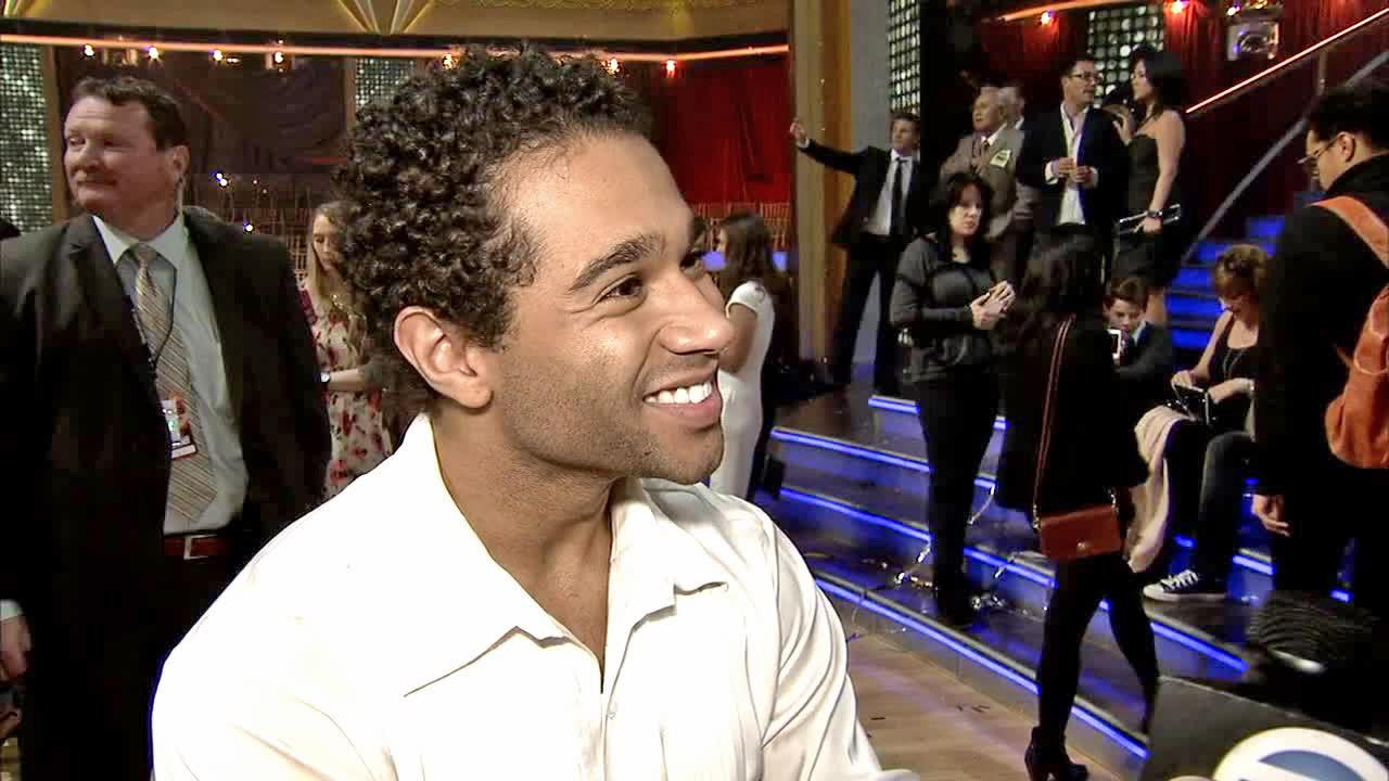 Corbin Bleu talks to OTRC.com after the season 17 finale of Dancing With The Stars  on Nov. 26, 2013.