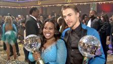 Amber Riley and Derek
