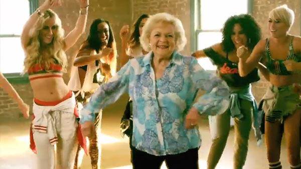 Betty White appears in Brit Smiths 2013 music video, Provocative. - Provided courtesy of Interscope Records