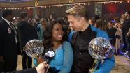 Amber Riley, Derek Hough talk 'Dancing With The Stars' win