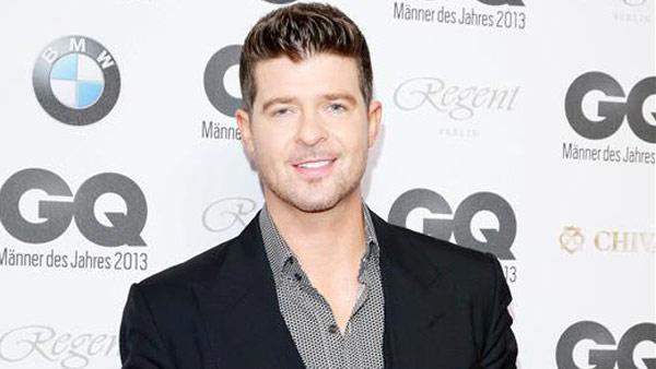 Robin Thicke appears at the Berlin 2013 GQ Men of the Year Awards on Nov. 7, 2013. - Provided courtesy of James Coldrey/Action Press/startraksphoto.com
